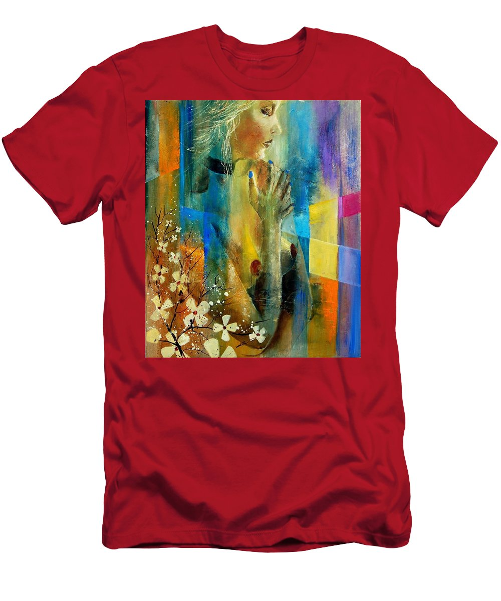Nude Men's T-Shirt (Athletic Fit) featuring the painting Nude 5609082 by Pol Ledent