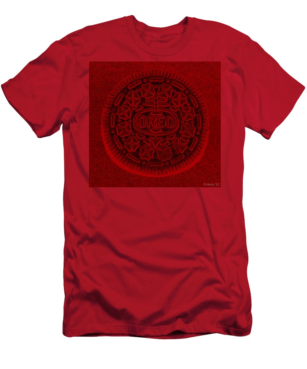 Oreo Men's T-Shirt (Athletic Fit) featuring the photograph O R E O In Red by Rob Hans