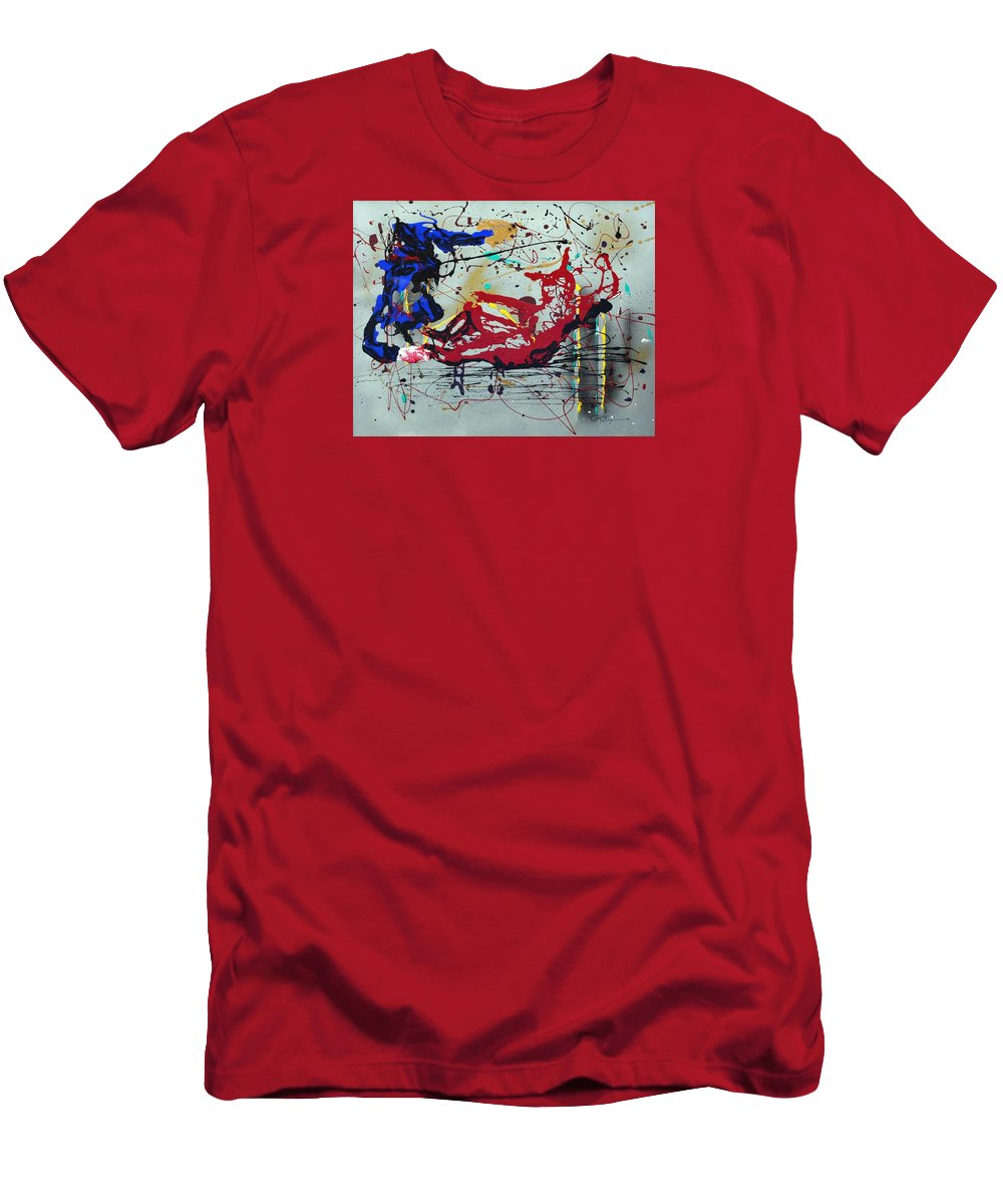 Impressionist Painting Men's T-Shirt (Athletic Fit) featuring the painting October Fever by J R Seymour