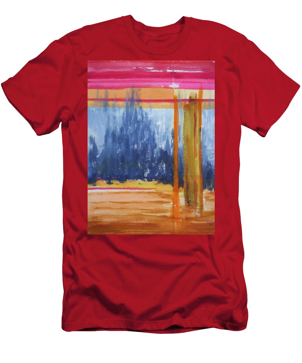 Landscape Men's T-Shirt (Athletic Fit) featuring the painting Opening by Suzanne Udell Levinger