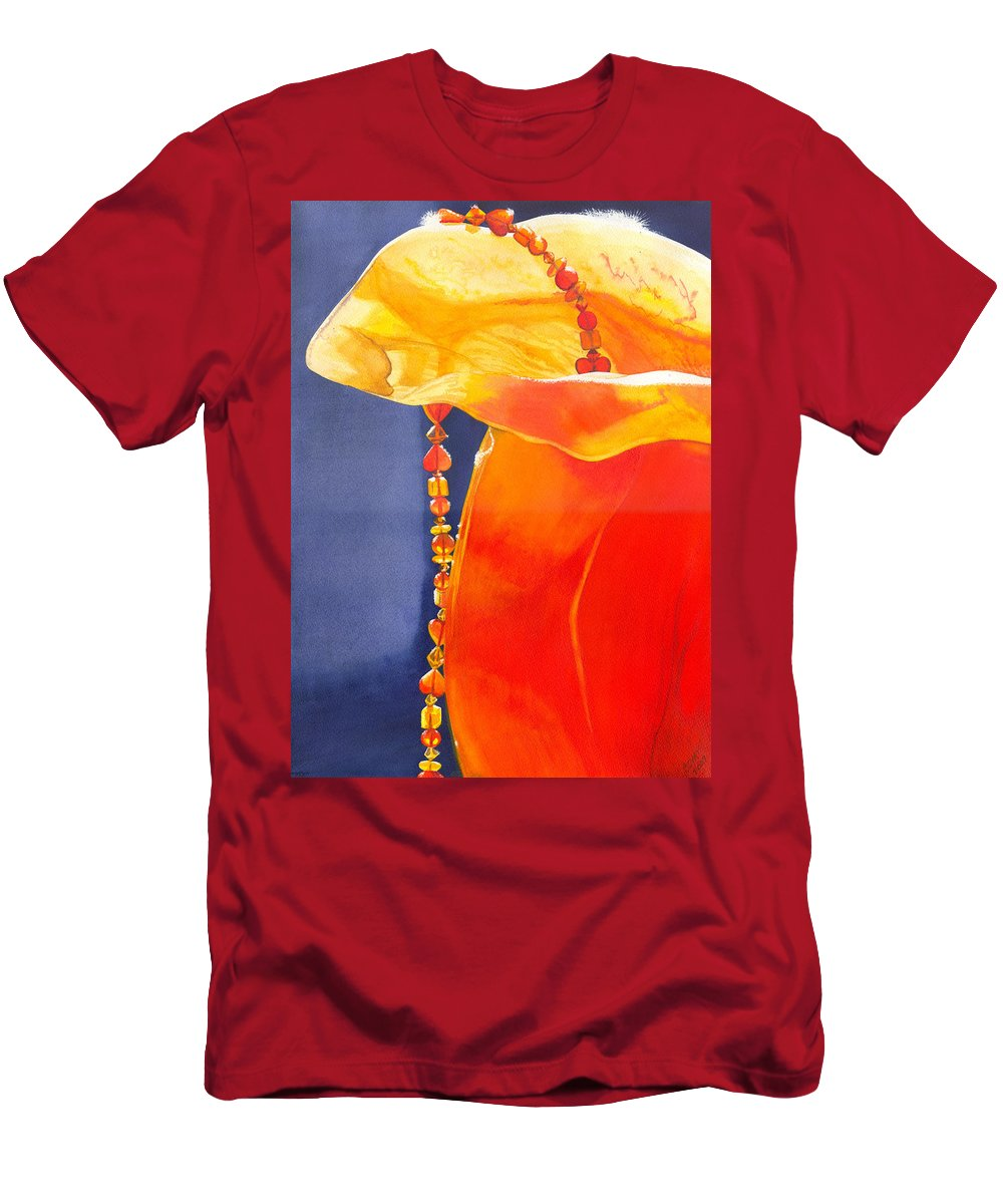 Beads Men's T-Shirt (Athletic Fit) featuring the painting Orange by Catherine G McElroy
