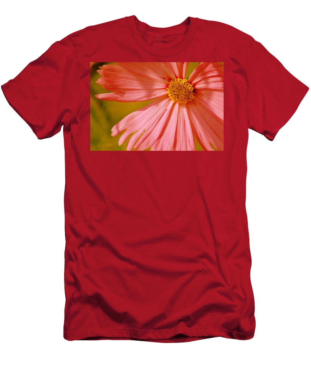 Flower Men's T-Shirt (Athletic Fit) featuring the photograph Orange Cosmo by Donna Bentley
