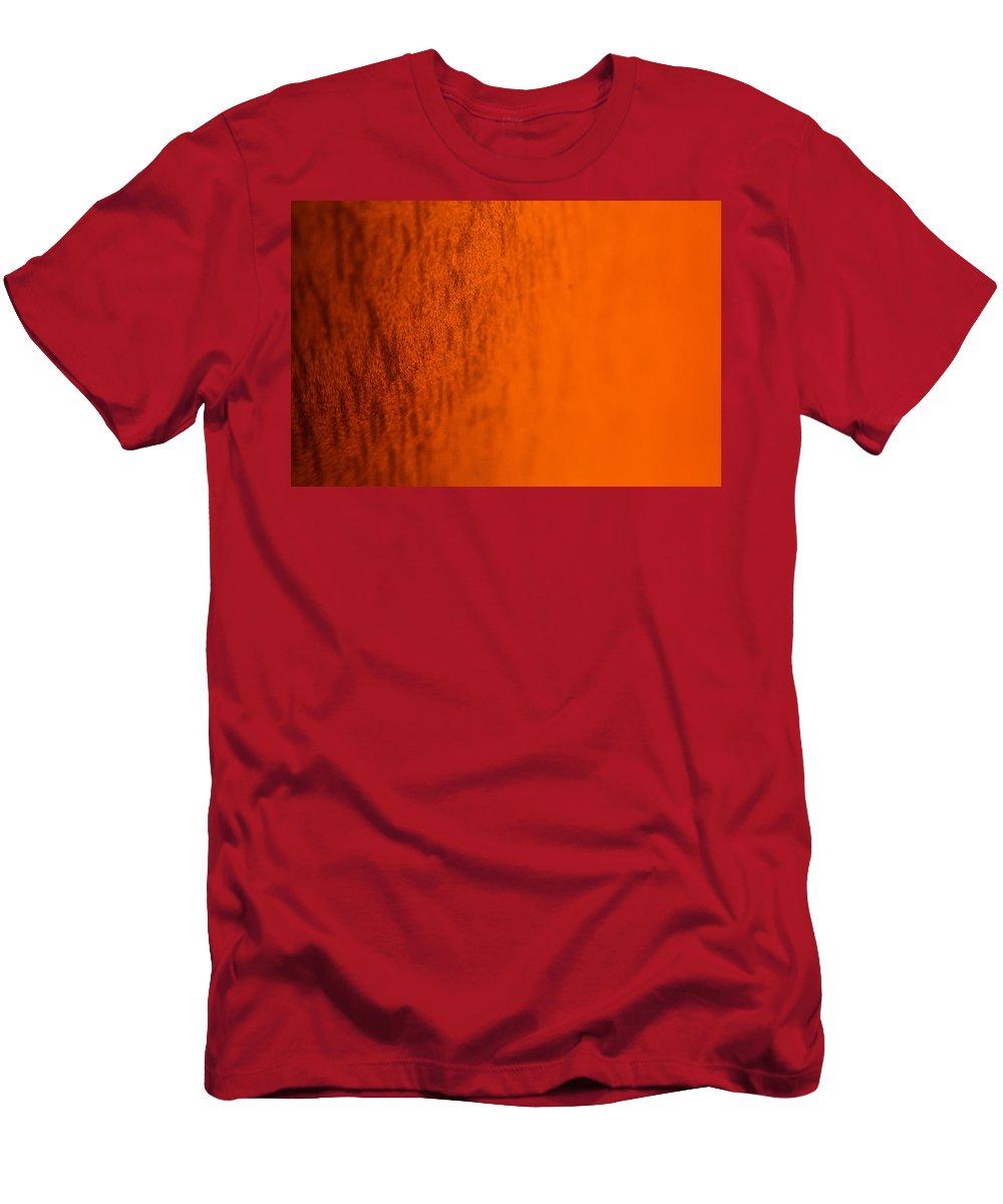 Orange Men's T-Shirt (Athletic Fit) featuring the photograph Orange Gradient by Miranda Strapason
