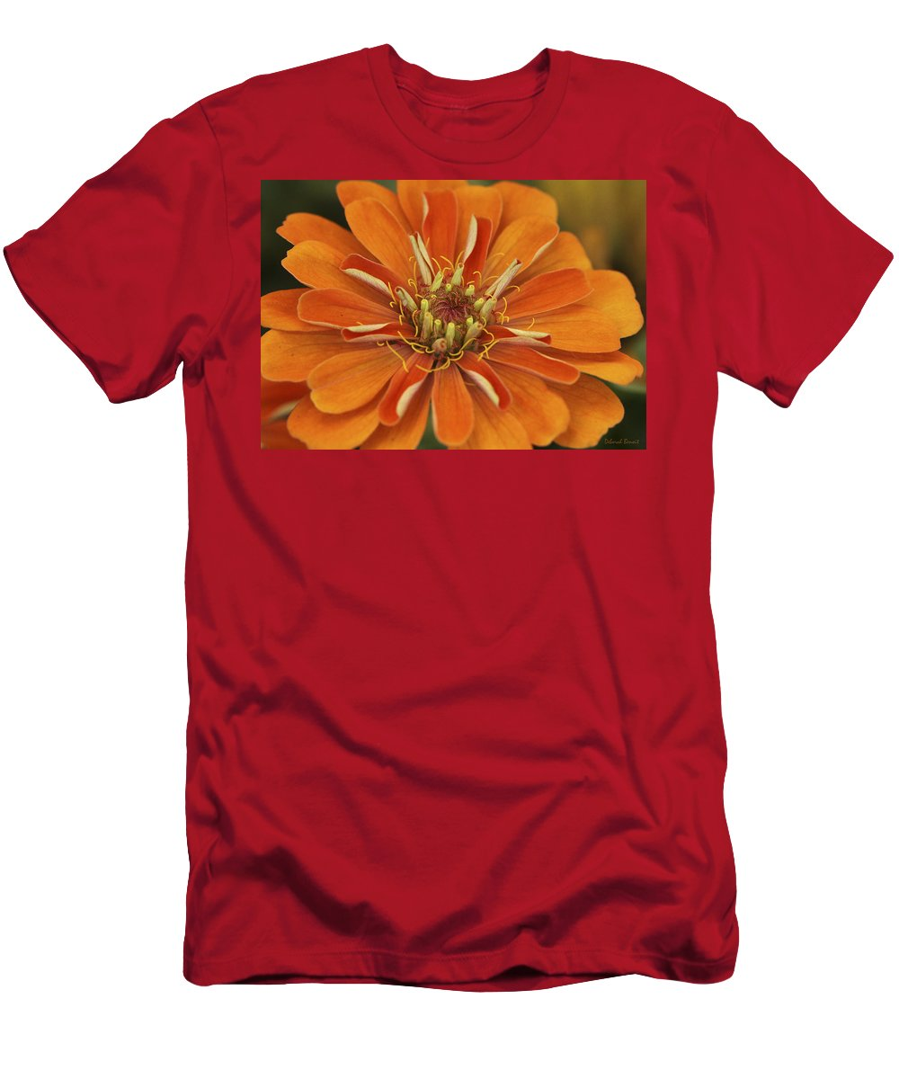 Flower Men's T-Shirt (Athletic Fit) featuring the photograph Orange Orange Orange by Deborah Benoit