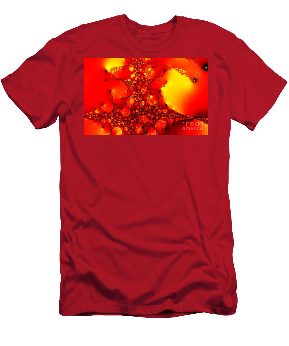 Clay Men's T-Shirt (Athletic Fit) featuring the digital art Orange Peel by Clayton Bruster