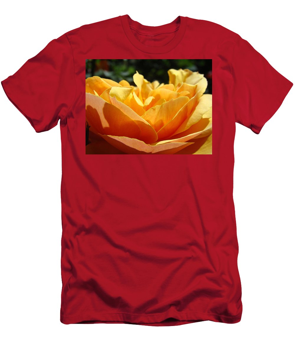 Rose Men's T-Shirt (Athletic Fit) featuring the photograph Orange Rose Art Prints Baslee Troutman by Baslee Troutman