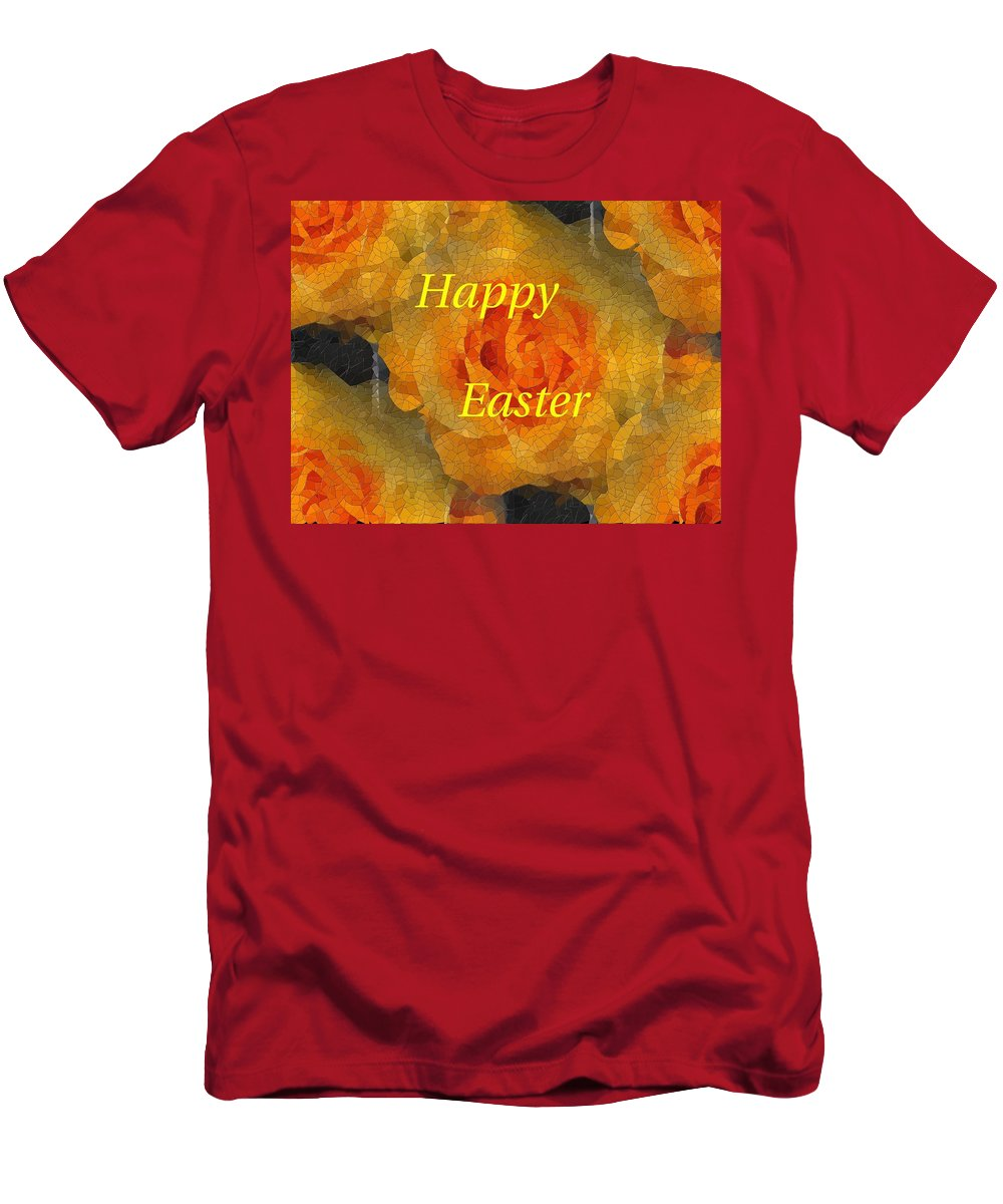 Easter Men's T-Shirt (Athletic Fit) featuring the digital art Orange You Lovely Easter by Tim Allen