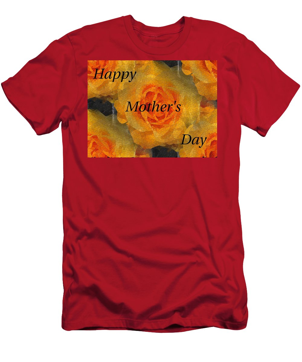Mother's Day Men's T-Shirt (Athletic Fit) featuring the digital art Orange You Lovely Mothers Day by Tim Allen
