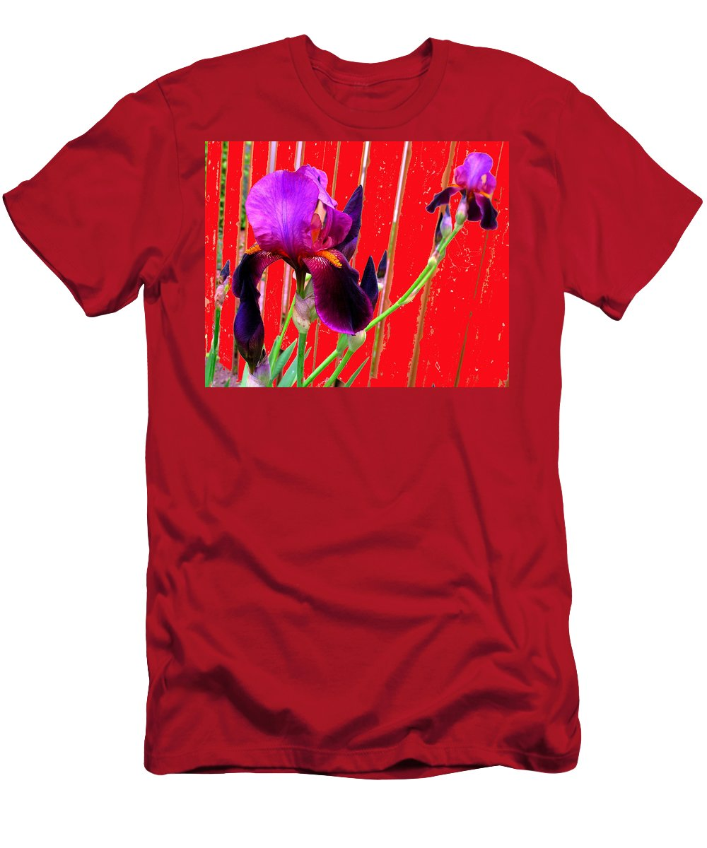 Iris Men's T-Shirt (Athletic Fit) featuring the photograph Other Side Of The Fence by Ian MacDonald