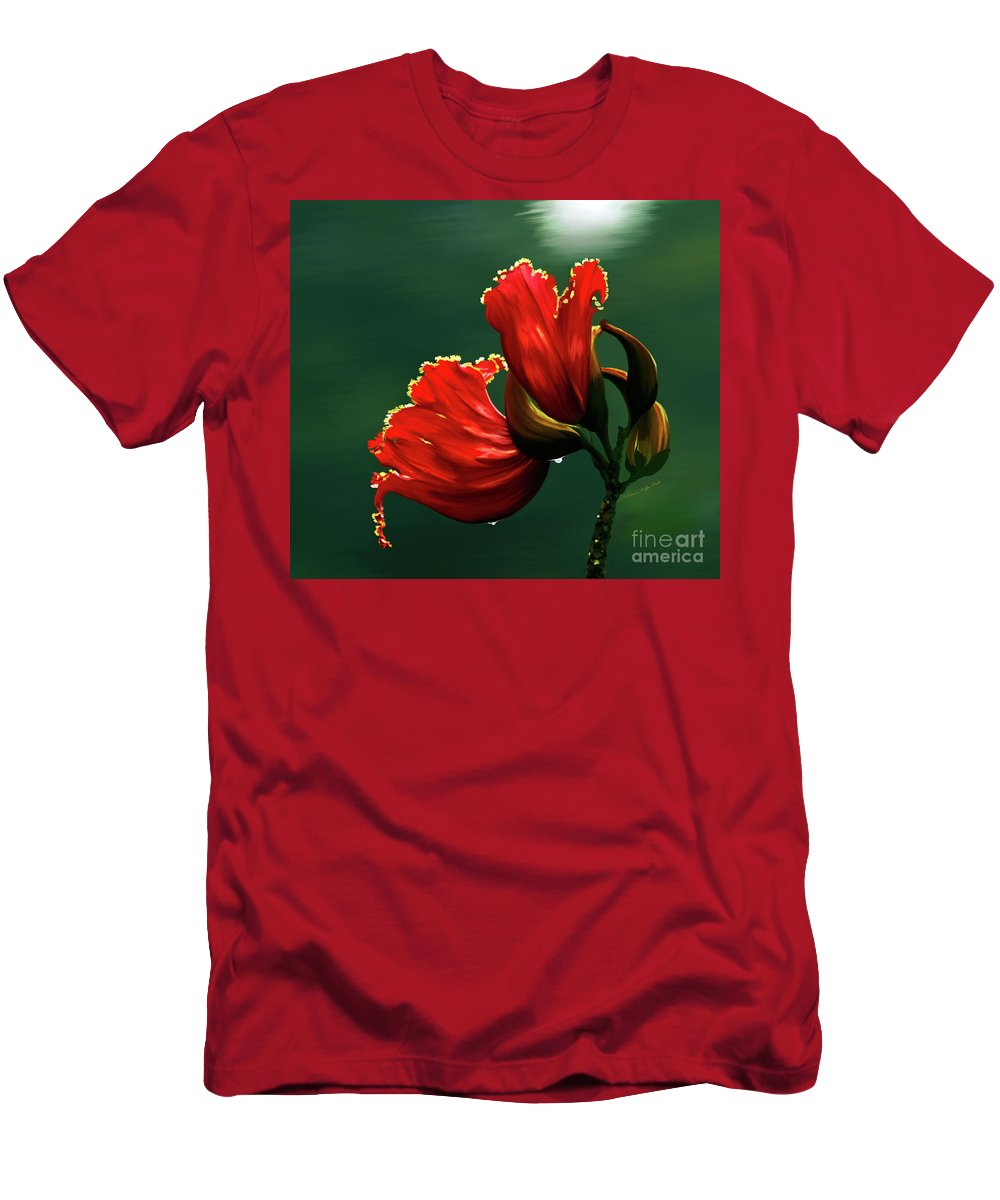Mixed Media T-Shirt featuring the photograph Out of Africa- mixed media- photo composite- altered art by Patricia Griffin Brett
