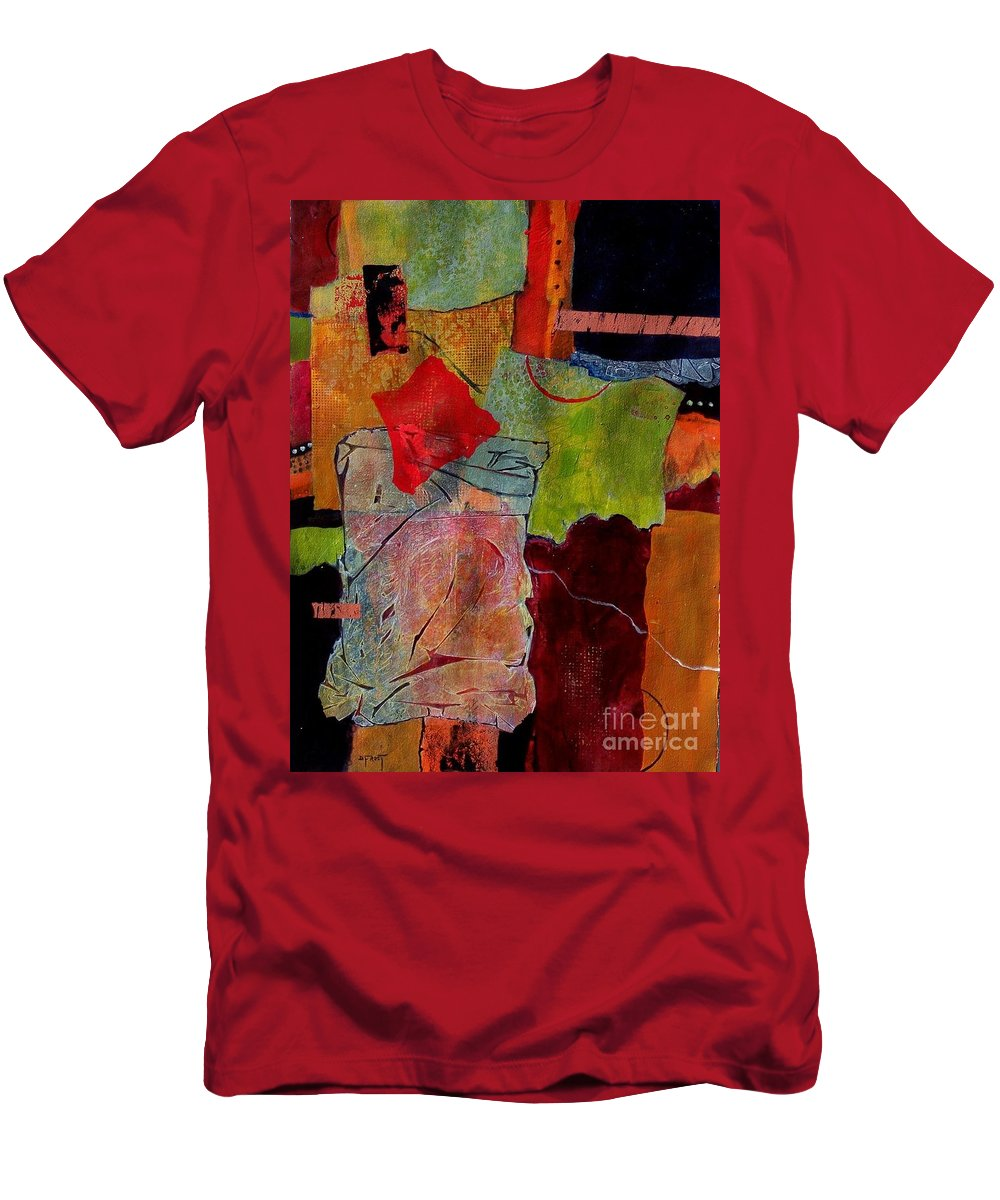 Abstract Expressionism Men's T-Shirt (Athletic Fit) featuring the painting Out Of Bounds by Donna Frost