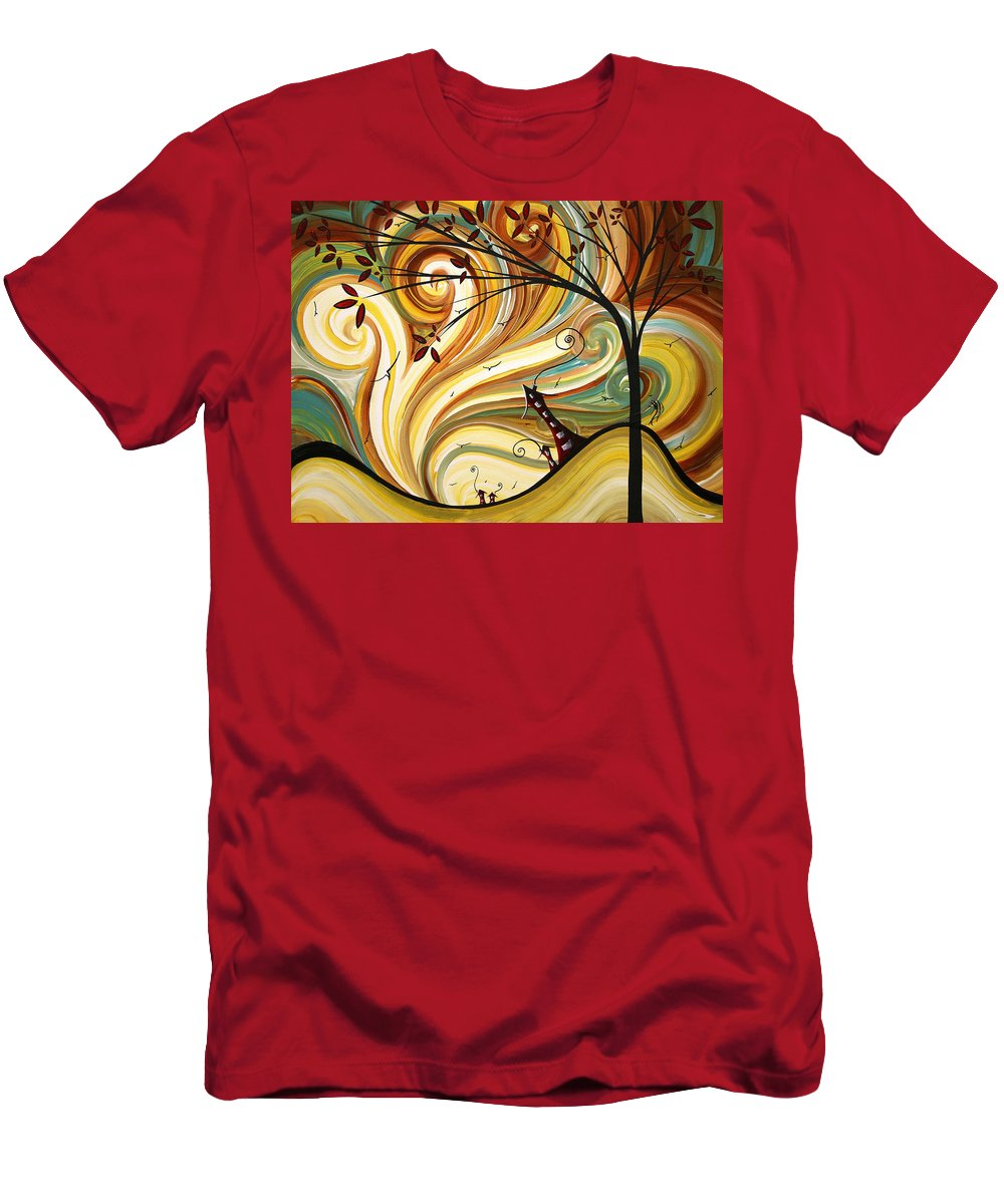 Art Men's T-Shirt (Athletic Fit) featuring the painting Out West Original Madart Painting by Megan Duncanson