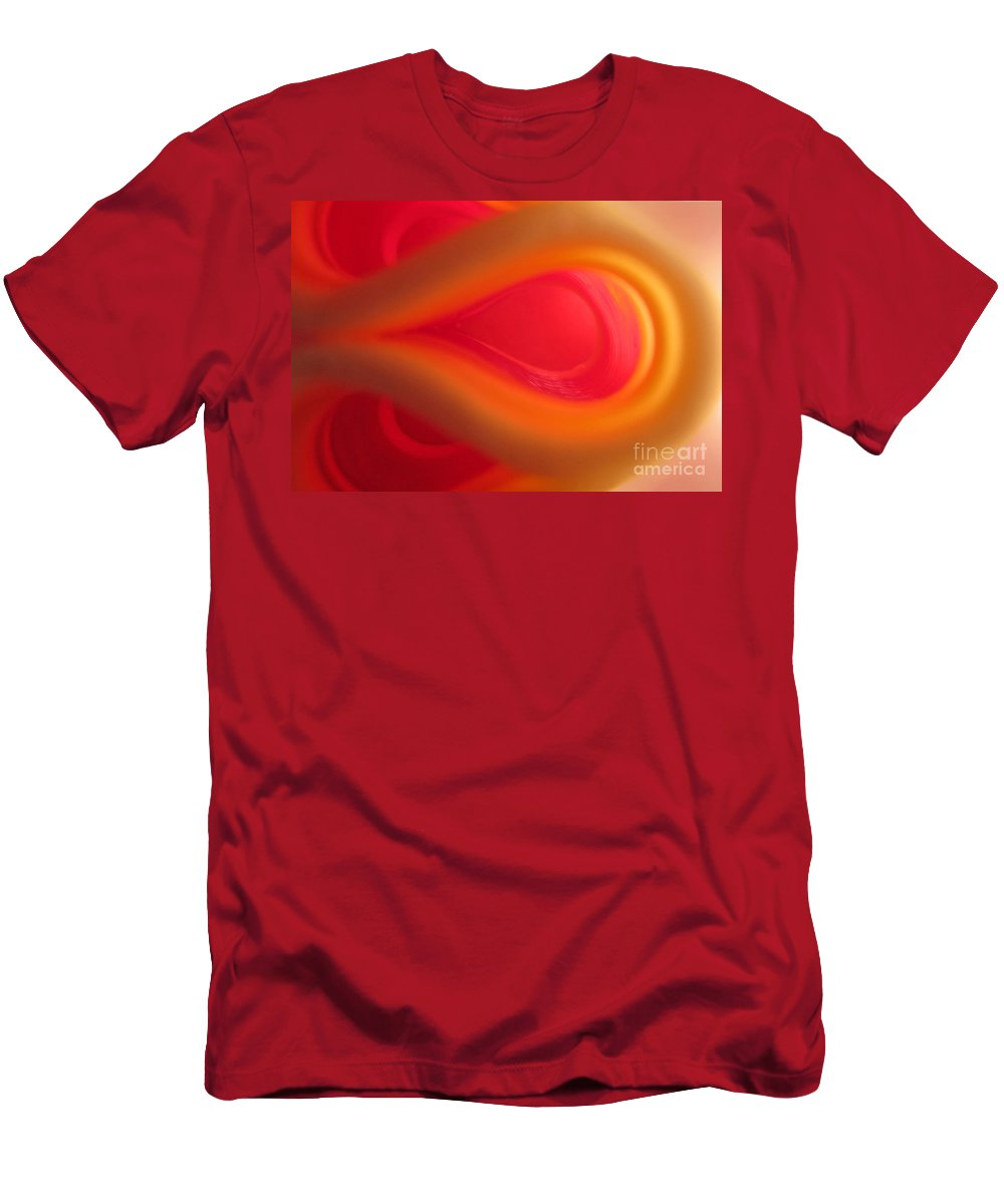 Passion Men's T-Shirt (Athletic Fit) featuring the photograph Passion Abstract 01 by Ausra Huntington nee Paulauskaite