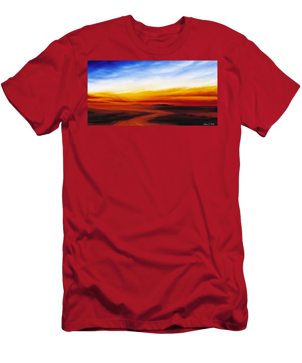 Sunrise Men's T-Shirt (Athletic Fit) featuring the painting Path To Redemption by James Christopher Hill