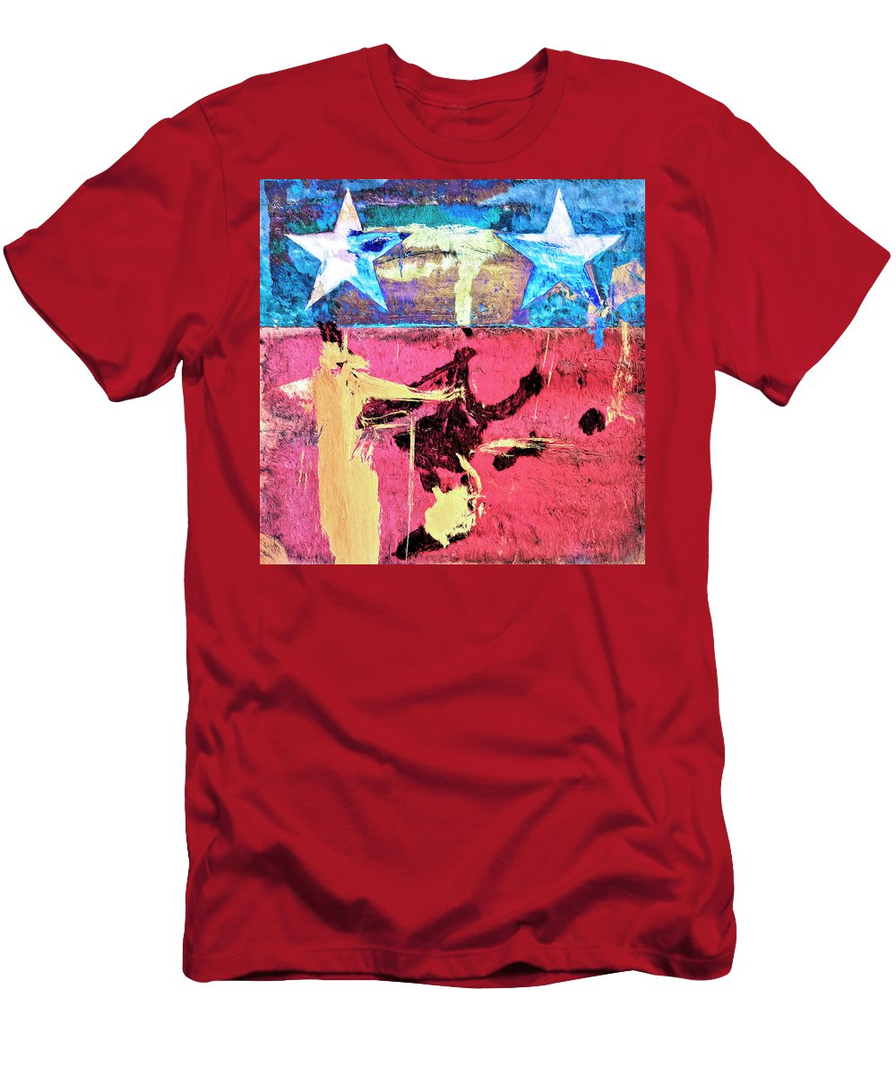 Abstract Men's T-Shirt (Athletic Fit) featuring the painting Patriot Act by Dominic Piperata