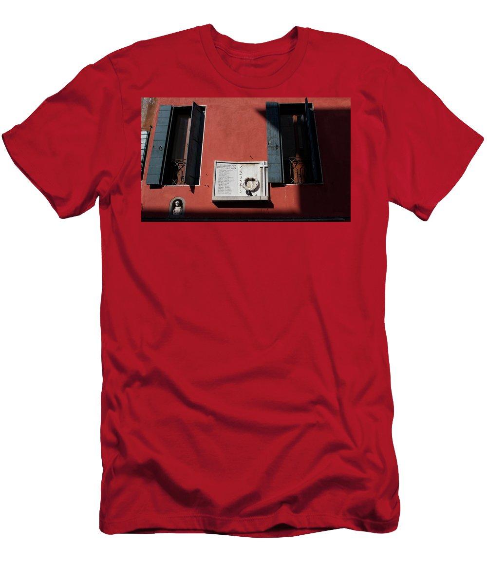 Mark J Dunn Men's T-Shirt (Athletic Fit) featuring the photograph Paxvobis by Mark J Dunn