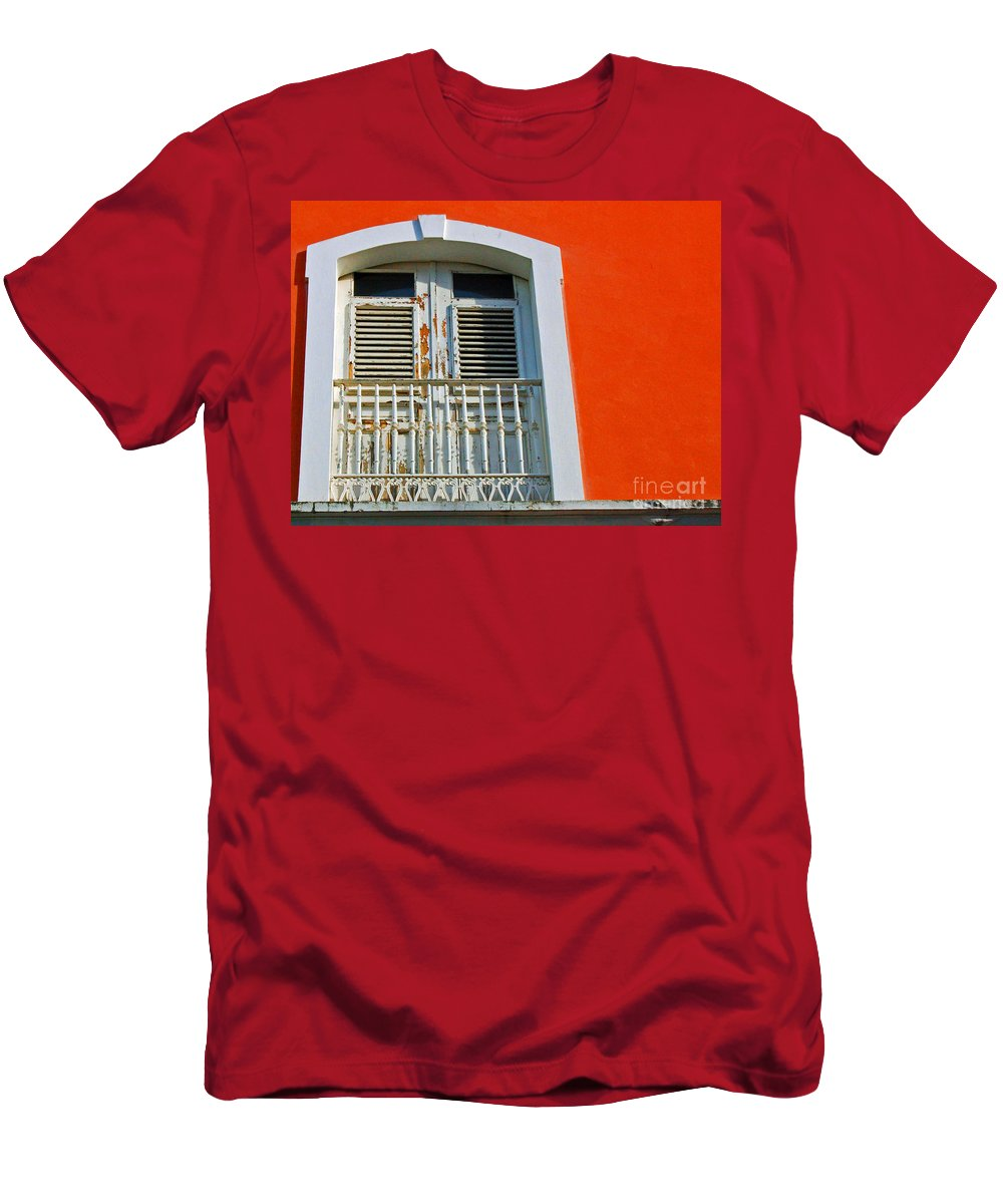 Shutters Men's T-Shirt (Athletic Fit) featuring the photograph Peel An Orange by Debbi Granruth