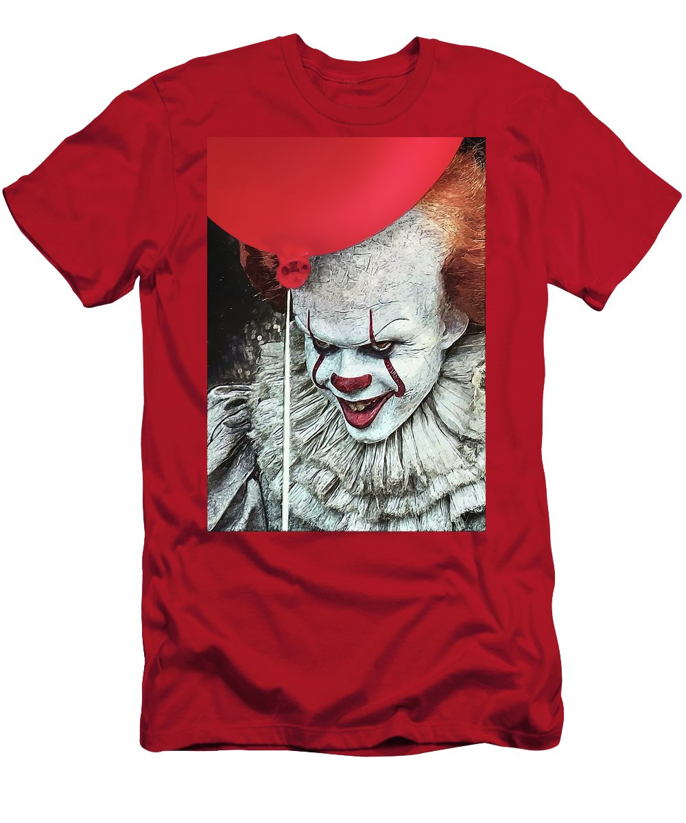 Pennywise Men's T-Shirt (Athletic Fit) featuring the digital art Pennywise by Zapista Zapista