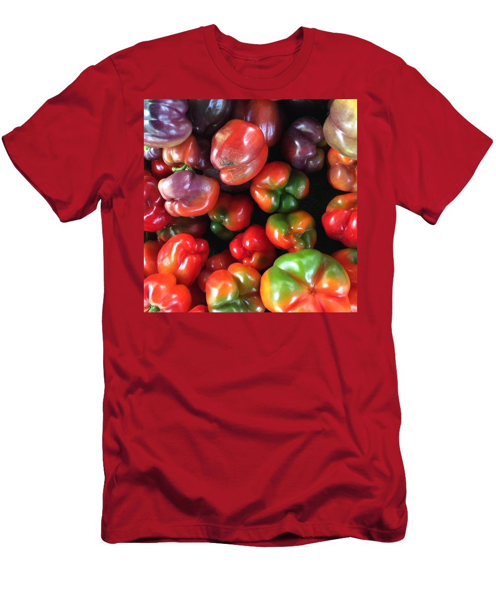 Men's T-Shirt (Athletic Fit) featuring the photograph Peppers by Daved Thom