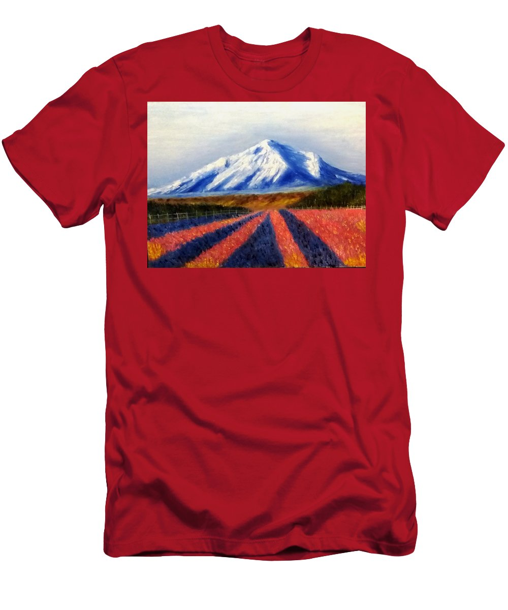 Perspective Men's T-Shirt (Athletic Fit) featuring the painting Perspective by Nissan Rabin