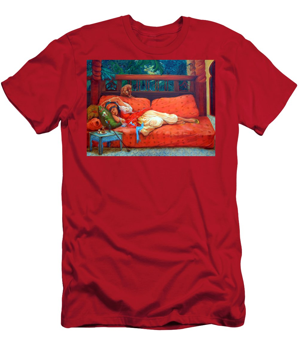Figurative Art Men's T-Shirt (Athletic Fit) featuring the painting Petite Somme After A. Bridgman by Portraits By NC