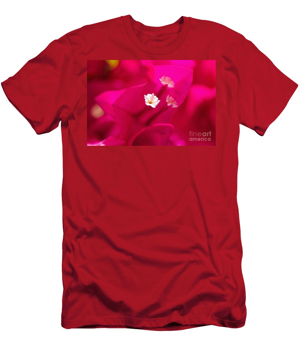 Abstract Men's T-Shirt (Athletic Fit) featuring the photograph Pink Bougainvillaea by Tomas del Amo - Printscapes