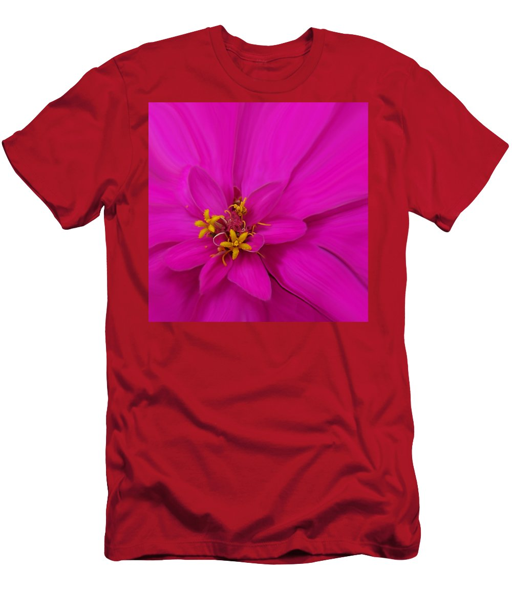 Flora Men's T-Shirt (Athletic Fit) featuring the photograph Pink by Ernie Echols