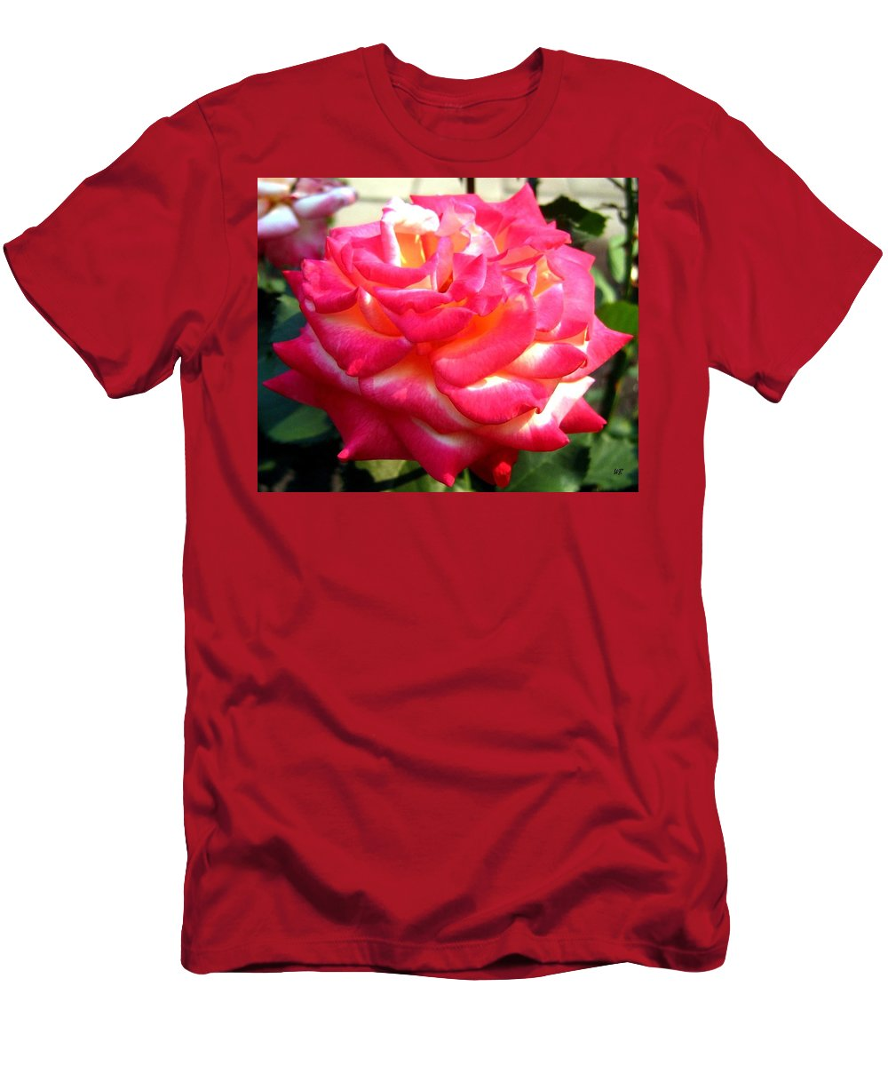 Rose Men's T-Shirt (Athletic Fit) featuring the photograph Pink Perfection by Will Borden