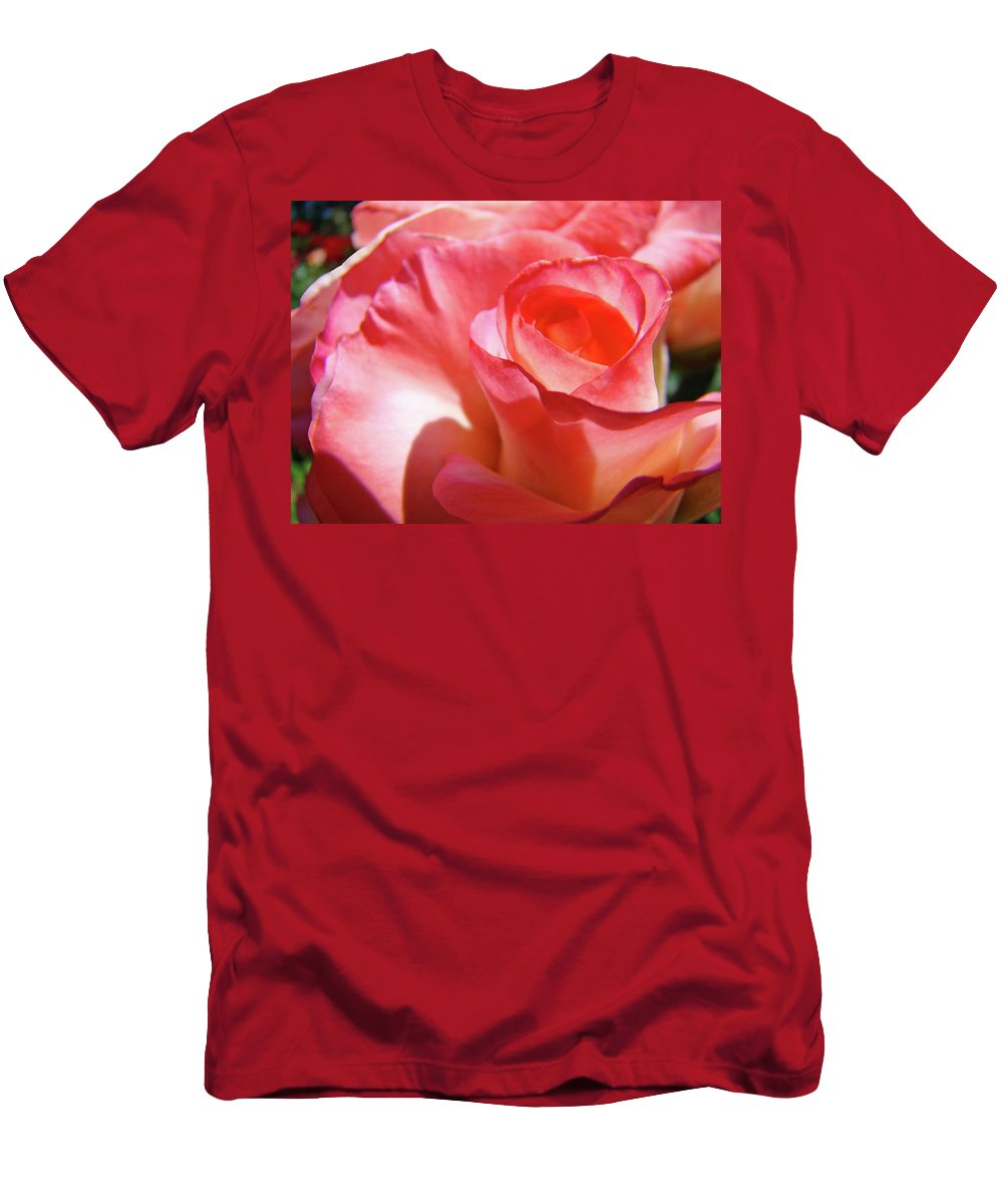 Rose T-Shirt featuring the photograph PINK ROSE Art Prints Floral Summer Rose Flower Baslee Troutman by Patti Baslee
