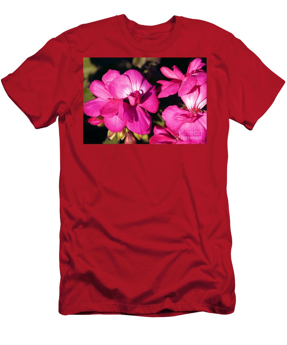 Clay Men's T-Shirt (Athletic Fit) featuring the photograph Pink Spring Florals by Clayton Bruster