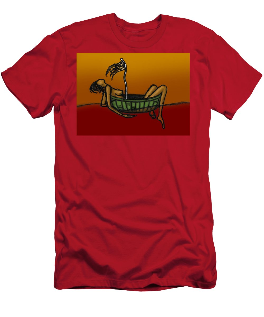 Pirate Men's T-Shirt (Athletic Fit) featuring the digital art Pirate by Kelly Jade King