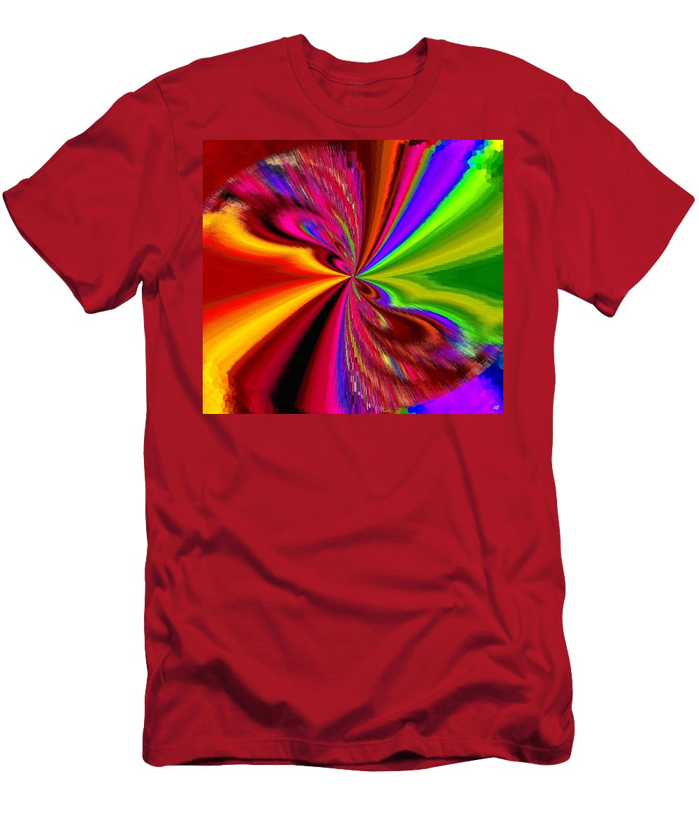 Abstract Men's T-Shirt (Athletic Fit) featuring the digital art Pizzazz 1 by Will Borden