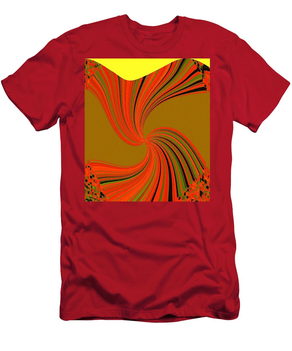 Abstract Men's T-Shirt (Athletic Fit) featuring the digital art Pizzazz 34 by Will Borden