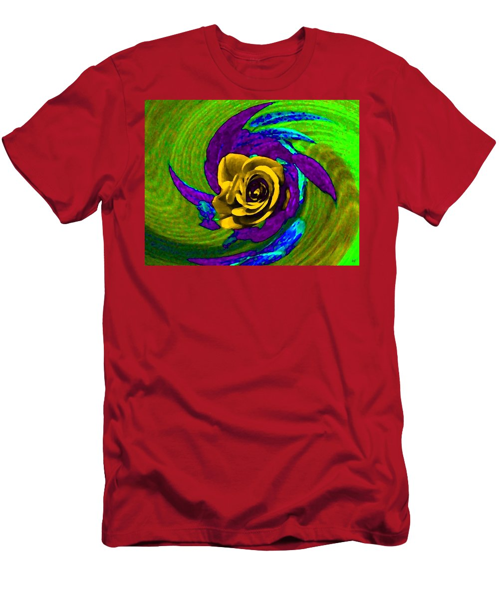 Abstract Men's T-Shirt (Athletic Fit) featuring the digital art Pizzazz 4 by Will Borden