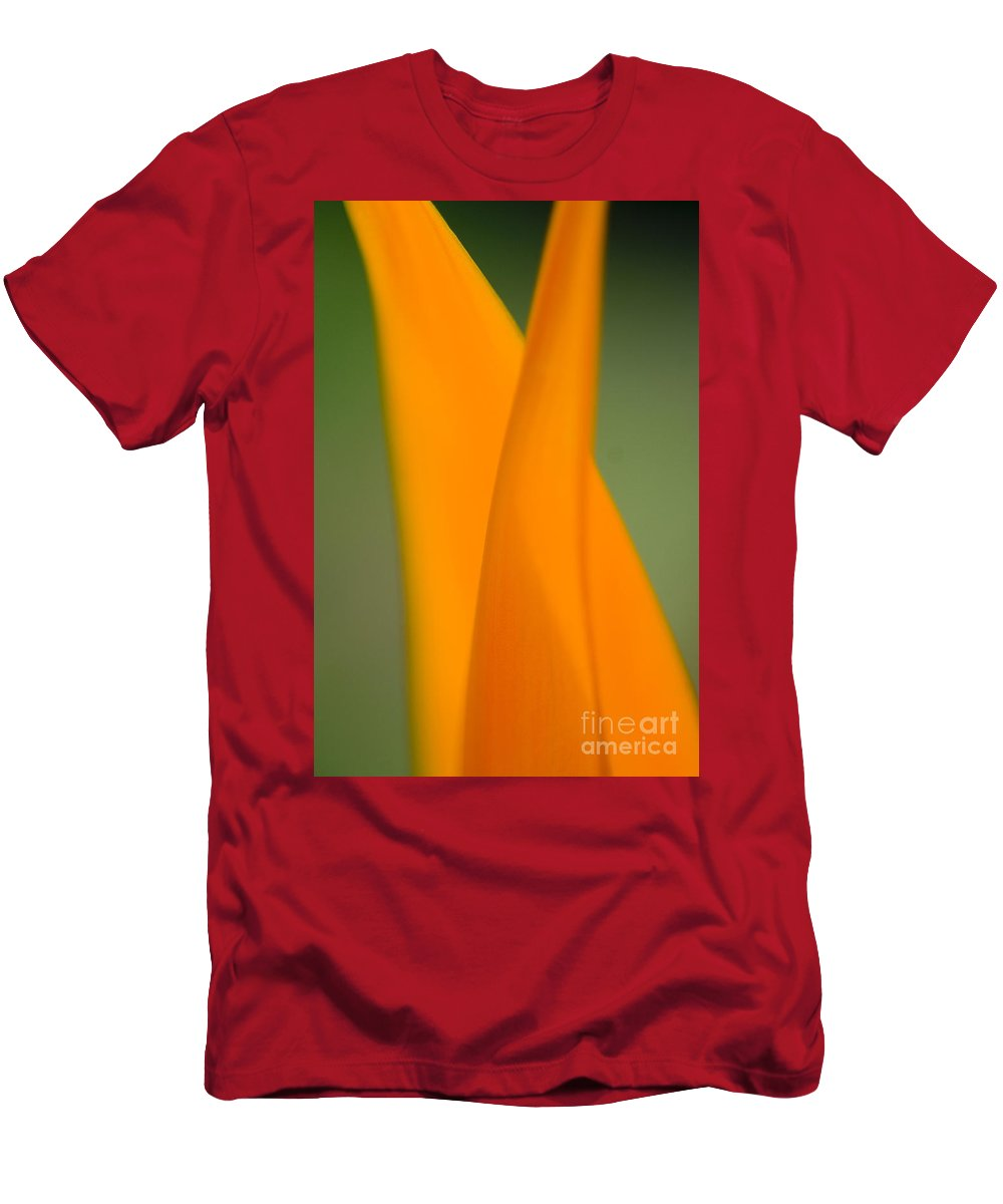 83-csm0049 Men's T-Shirt (Athletic Fit) featuring the photograph Plant Abstract II by Ray Laskowitz - Printscapes