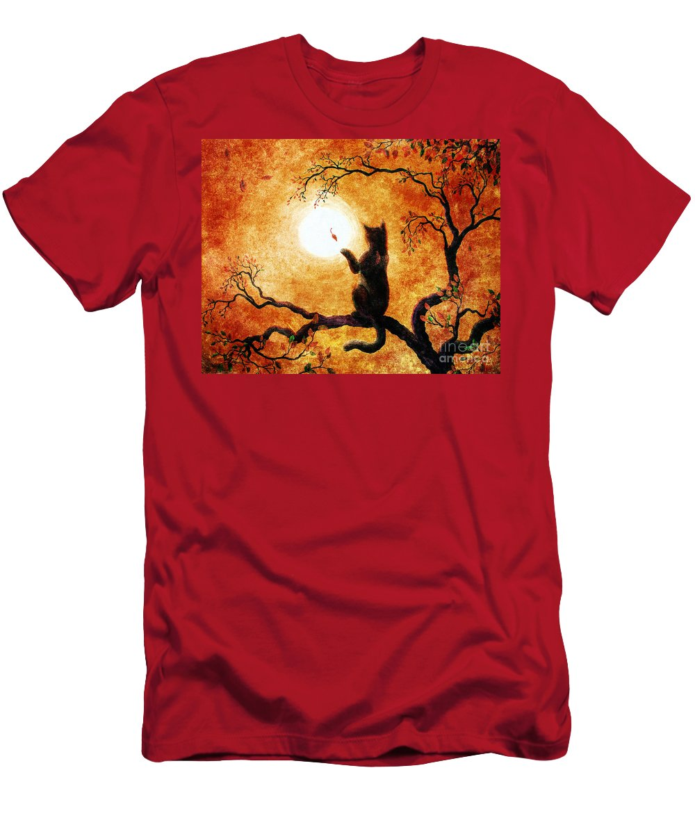 Zen Men's T-Shirt (Athletic Fit) featuring the painting Playing On Halloween Afternoon by Laura Iverson