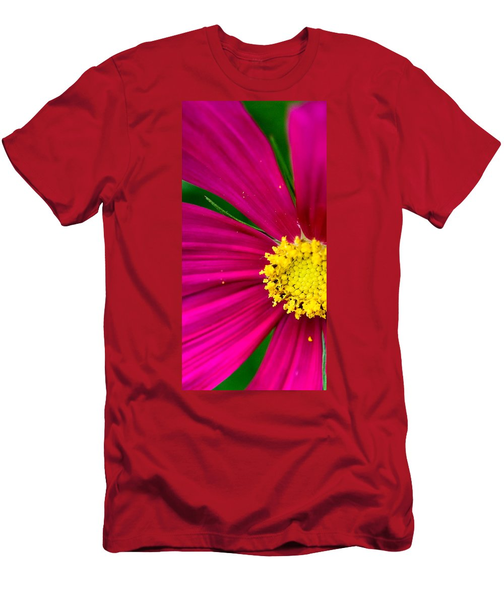 Plink Men's T-Shirt (Athletic Fit) featuring the photograph Plink Flower Closeup by Michael Bessler