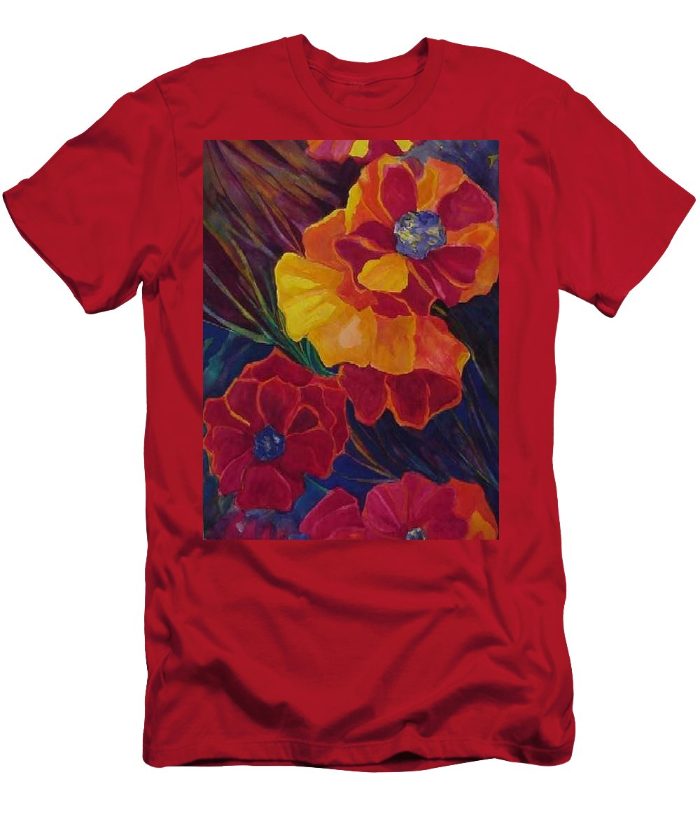 Flowers T-Shirt featuring the painting Poppies by Carolyn LeGrand
