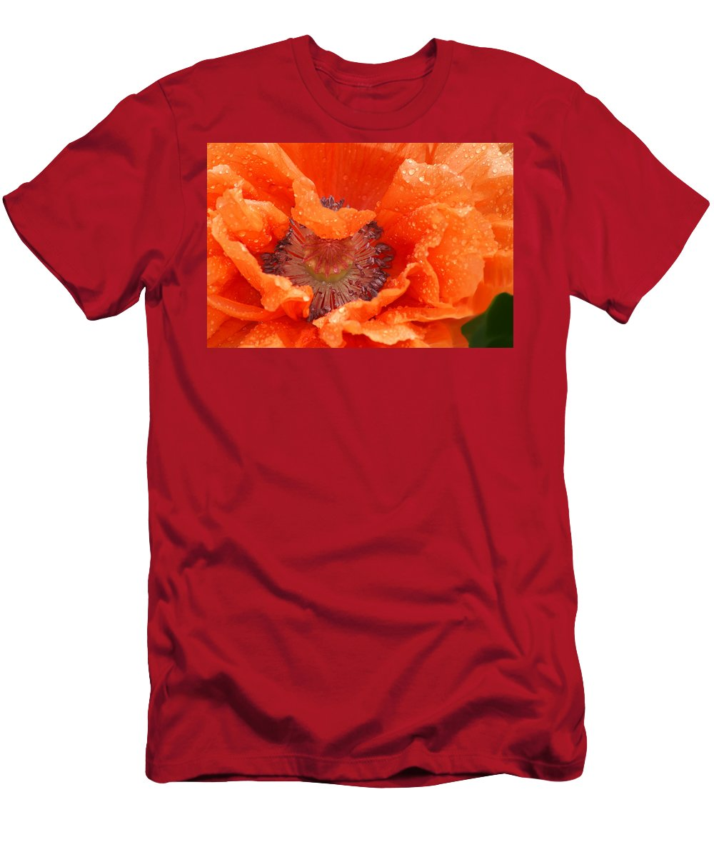 Orange Men's T-Shirt (Athletic Fit) featuring the photograph Poppy by Heather Coen