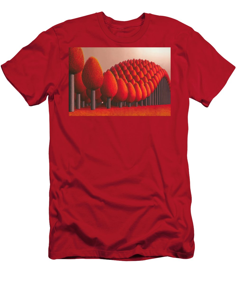 Tree Men's T-Shirt (Athletic Fit) featuring the painting Populus Flucta by Patricia Van Lubeck