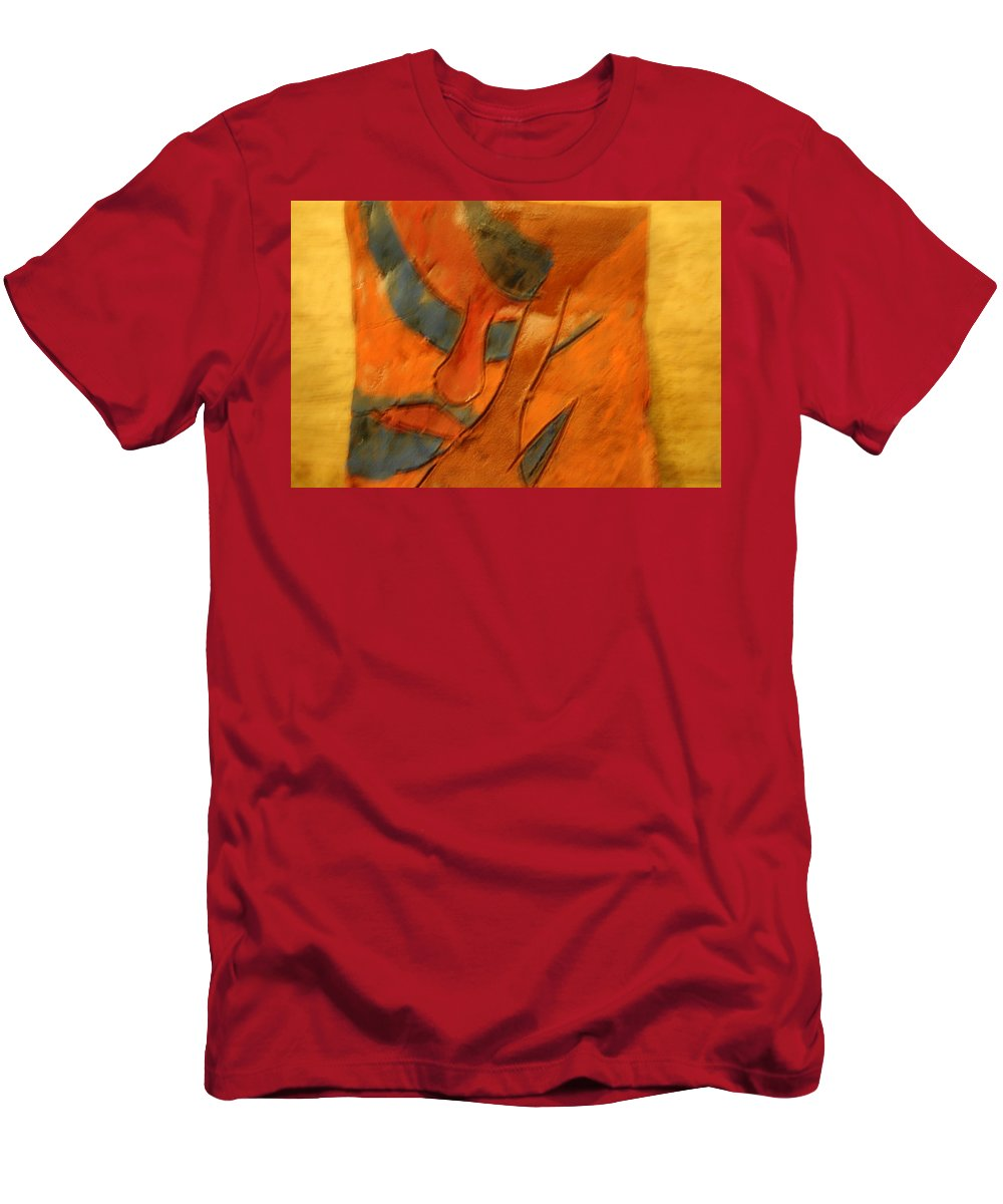 Jesus Men's T-Shirt (Athletic Fit) featuring the ceramic art Pose - Tile by Gloria Ssali