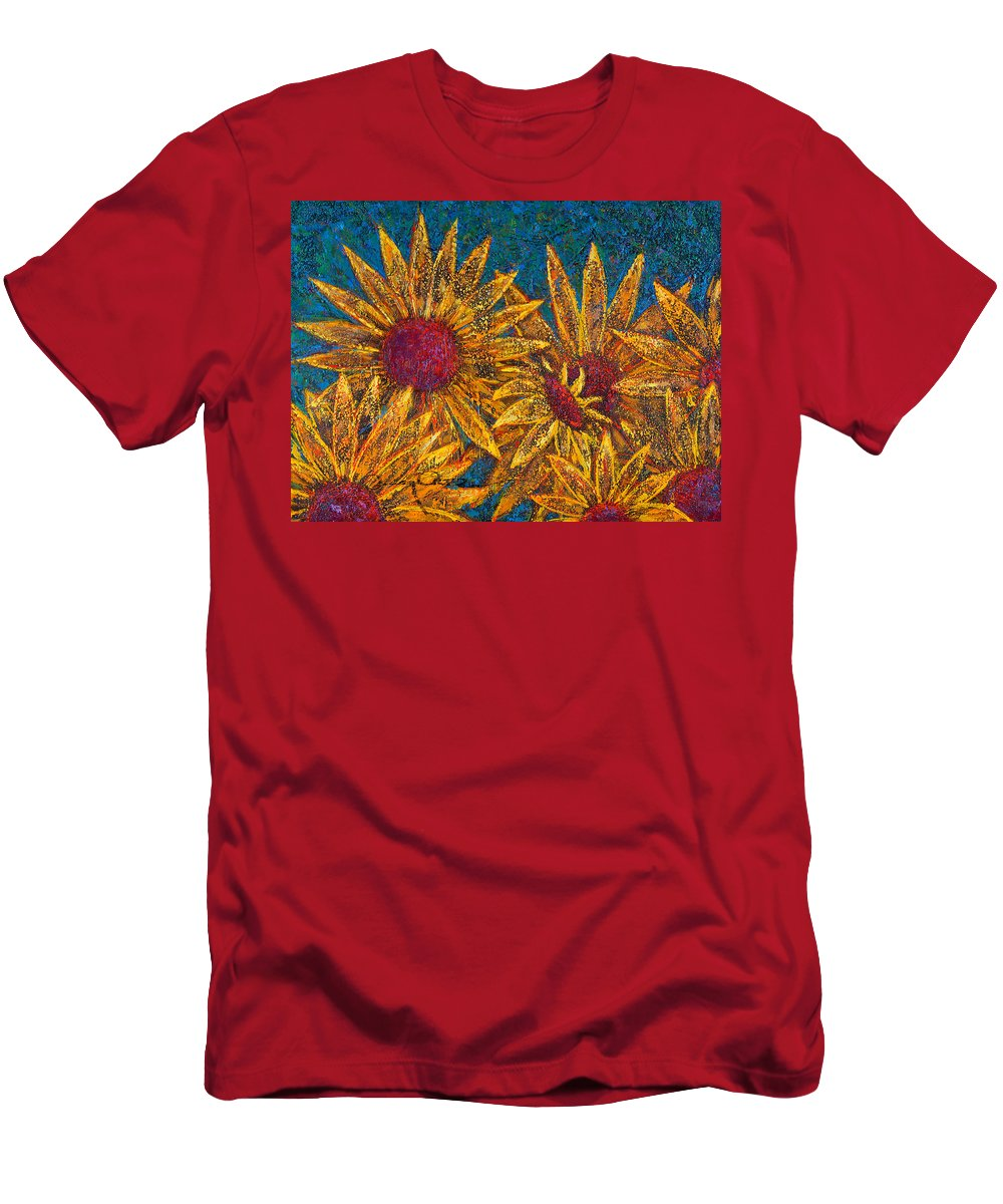 Flowers T-Shirt featuring the painting Positivity by Oscar Ortiz