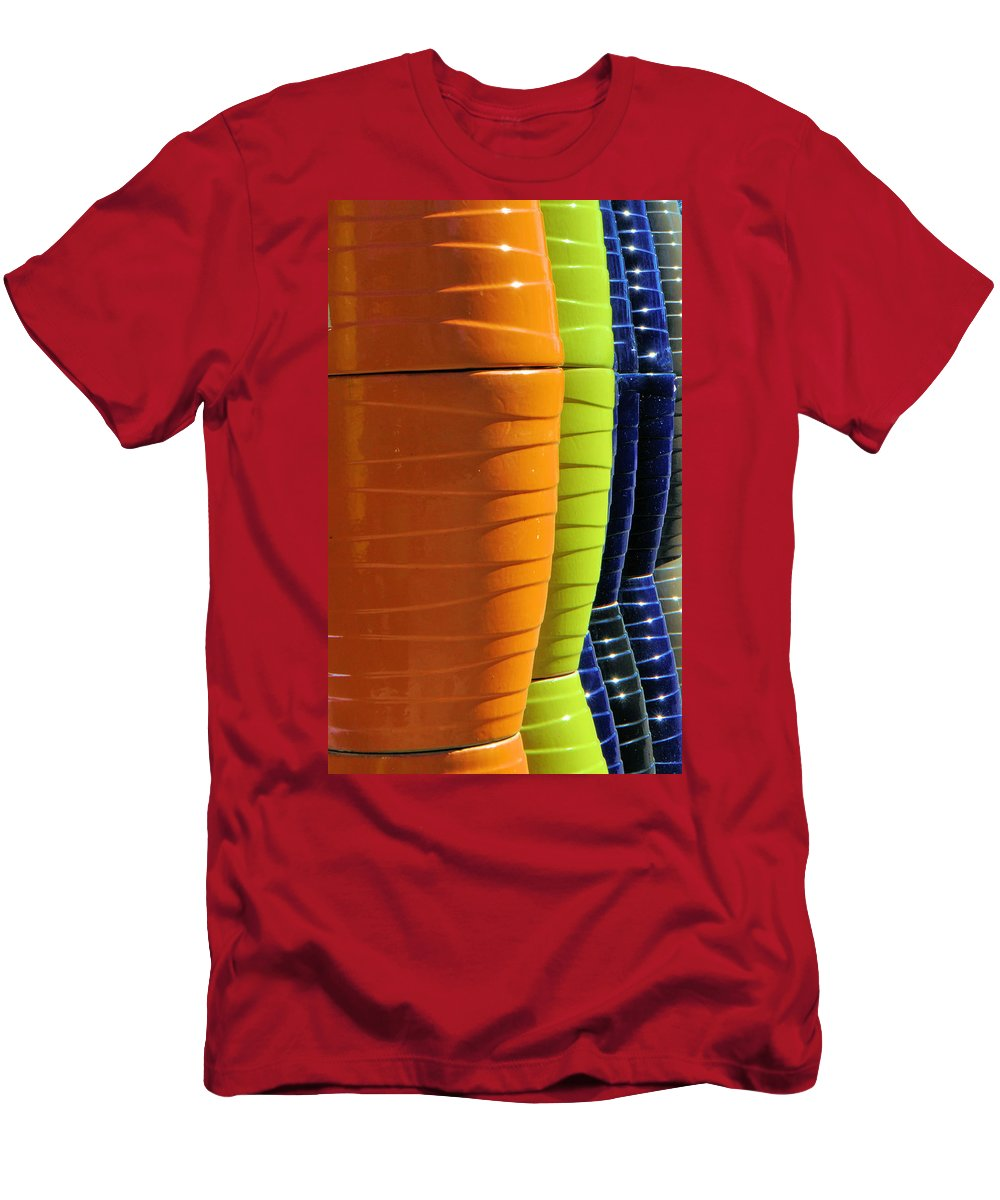 Pots Men's T-Shirt (Athletic Fit) featuring the photograph Pots by Josephine Buschman