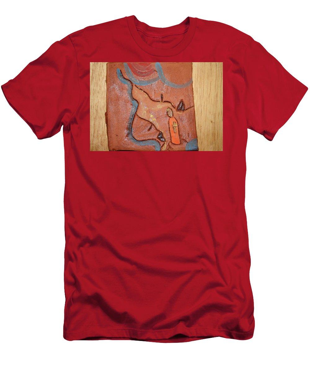 Jesus Men's T-Shirt (Athletic Fit) featuring the ceramic art Prayer 27 - Tile by Gloria Ssali
