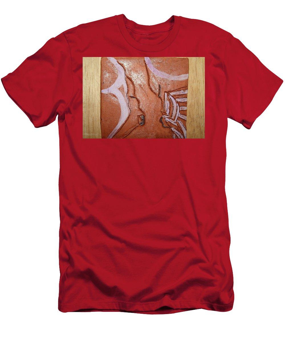 Jesus Men's T-Shirt (Athletic Fit) featuring the ceramic art Prayer 32 - Tile by Gloria Ssali