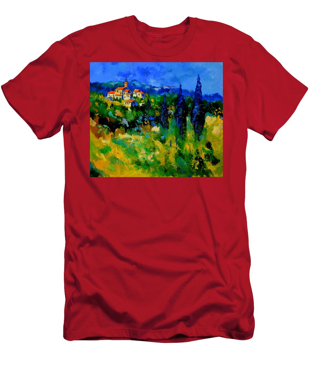 Landscape T-Shirt featuring the painting Provence 768110 by Pol Ledent