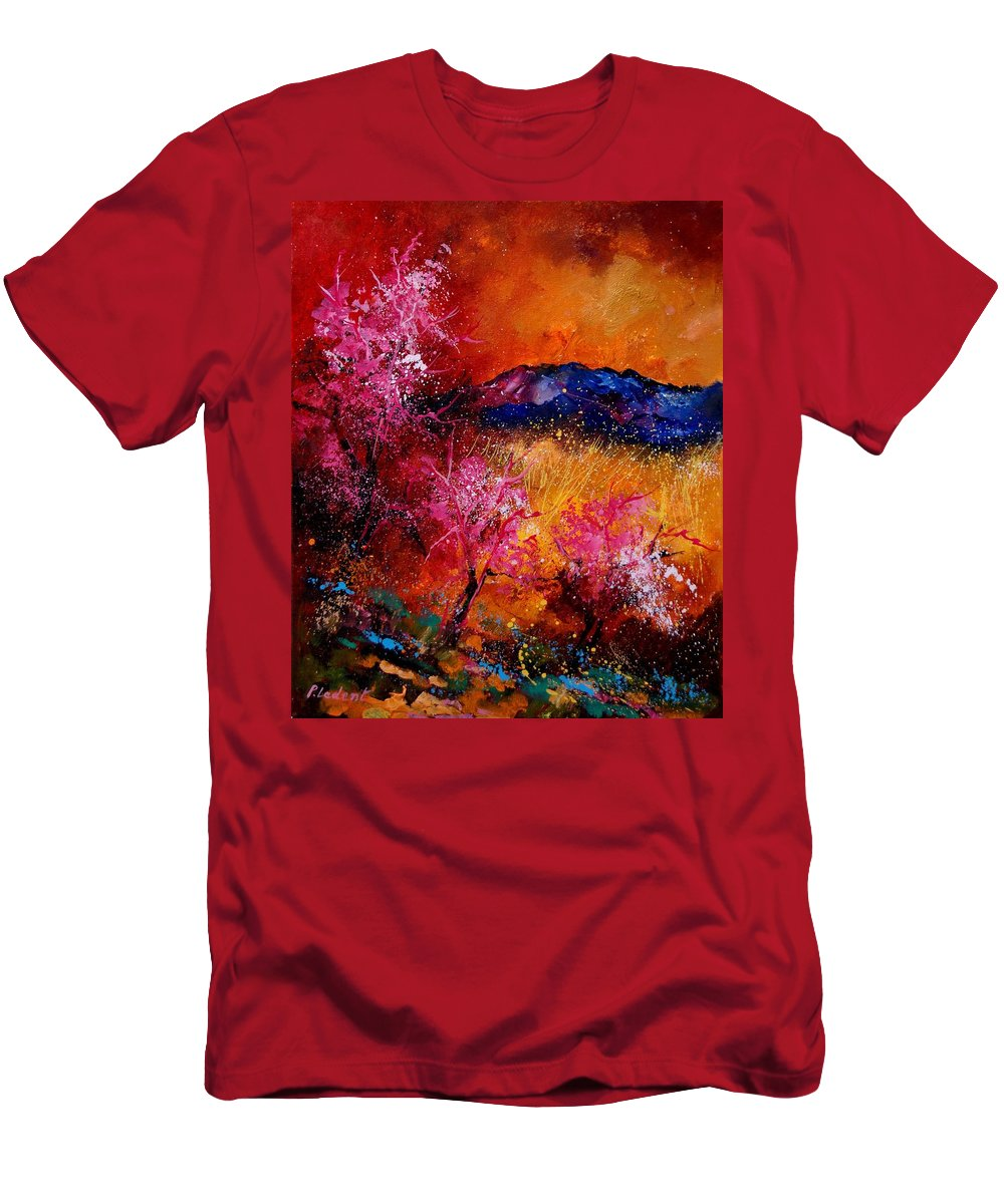 Provence Men's T-Shirt (Athletic Fit) featuring the painting Provence560908 by Pol Ledent