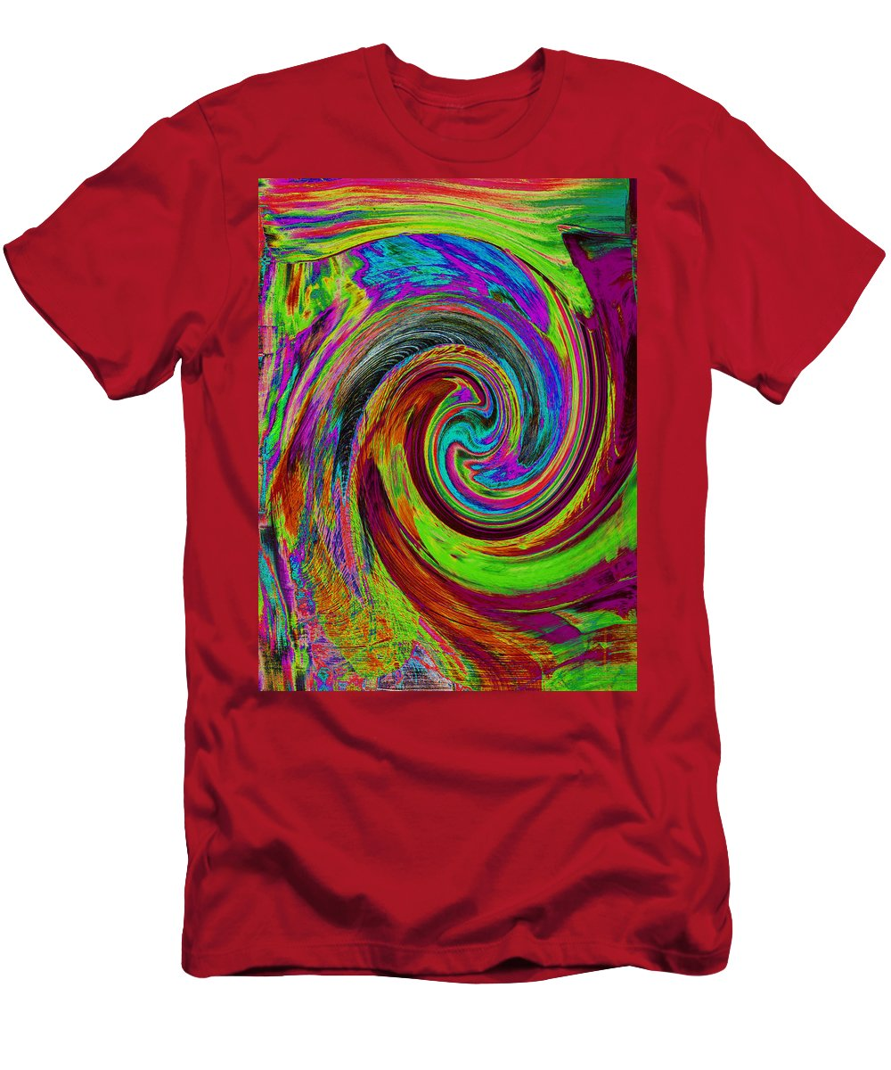 Abstract Men's T-Shirt (Athletic Fit) featuring the painting Pscholdelic Surfs Up by Wayne Potrafka