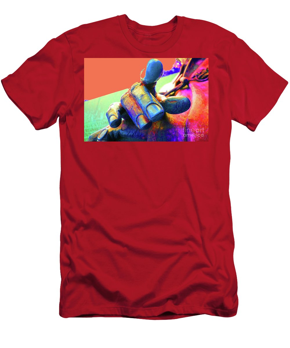 Finger Men's T-Shirt (Athletic Fit) featuring the photograph Pull My Finger by Jost Houk