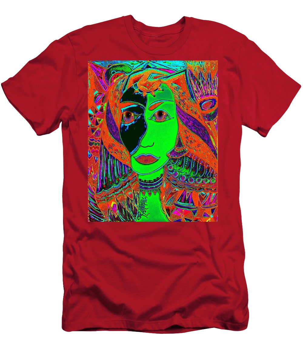 Queen Of The Nile Men's T-Shirt (Athletic Fit) featuring the painting Queen Of The Nile by Natalie Holland